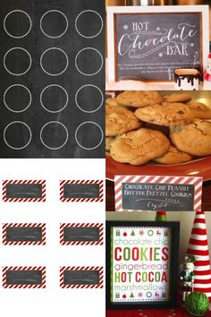 Hot Chocolate Bar and Cookie Swap Party Free Printables