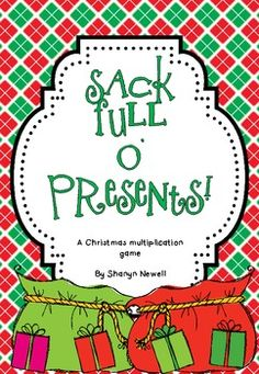 {FREE} Sack Full O' Presents {A Multiplication Game}. By Coffee, Kids and Compulsive Lists.