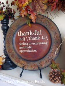 decorative platter--there are so many cool quotes that you could put on a platter to set out on the counter, mantel, etc....love this idea!