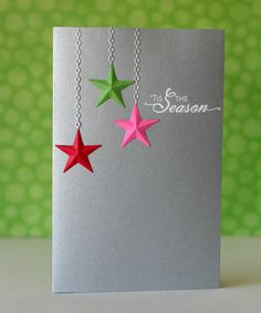 Star ornaments with MB chain die christma card, wedding cards, barn, ornament, chain die, challeng, box, notabl nest, christmas stars