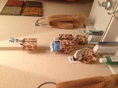 Command strip + decoupage = happy, organized Jodi!