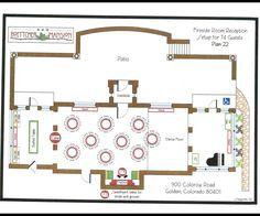 Set up for Fireside Room Reception- 74 guests. Location: Boettcher Mansion