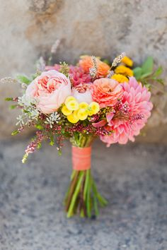 bright spring bouquet...not the colors as much as the look of the bouquet