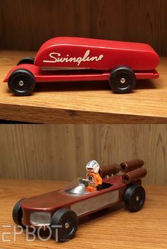 Awesome Pinewood Derby Cars.  Future Awana Grand Prix cars!  :D