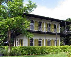 Ernest Hemingway house in Key West, FL.