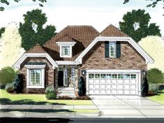 Simply charming and well designed 3 bedroom Cottage style home.  Cottage House Plan # 161150.