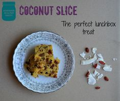 Coconut Slice, The Perfect Lunchbox Treat | http://homemadehealthyhappy.com/2014/03/coconut-slice-perfect-lunchbox-treat/