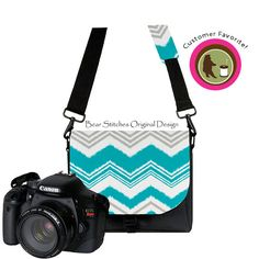 Camera Bag DSLR Camera Bag Padded Water Resistant  by BearStitches