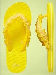 mellow yellow, yellow ruffl, flop till, flop craft, golden yellow, flip flops, flipflop, ruffl flip, yellow flip