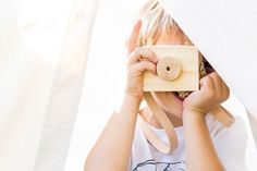 Toy Camera Wooden Camera Kids Toy Child by elephantandbird on Etsy, $25.00