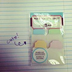 Martha Stewart pastel stationary tabs #filofax
