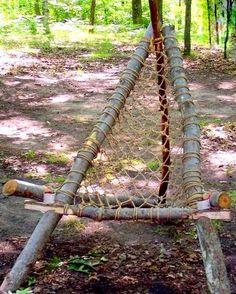 diy rustic hammock-style wilderness chair