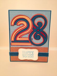 B-day card for my bro's 28th. Using Fontopia Cricut Cartridge. :) - made by T. DelJanovan