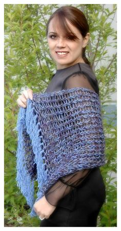 Provo Craft - free loom knitting pattern for Simple Elegance Shawl