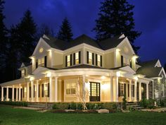 Southern House Plan - LOVE the wrap around porch