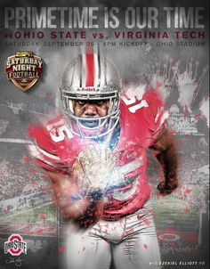 GAME #2 9-6-2014 VA TECH VS. THE EZEKIEL ELLIOTT #15 RB PRIME TIME IS OUR TIME-BY SAMUEL SILVERMAN.