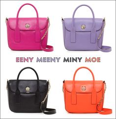 I will have one of each...thank you Kate Spade!! purs, color, designer handbags, leather handbags