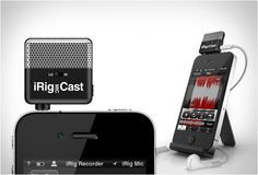 iRig Mic Cast is a handy, ultra-compact portable voice recording microphone, it was designed specifically for recording podcasts, interviews, lectures, voice memos, speeches and more.