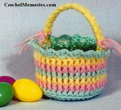 Crochet Memories Blog: Free Pattern - Easter Candy Basket