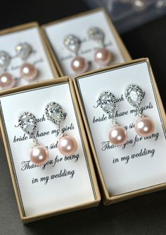 Blush pink ,Bridesmaid jewelry ,Wedding Bridal Jewelry Bridal Earrings Bridesmaid Earrings ,tear drops, dangle,bridesmaid gifts.PINK WEDDING on Etsy, $32.64 AUD