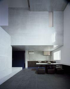 Interior minimalism on pinterest architects philip for Minimalist white house by koichi kimura