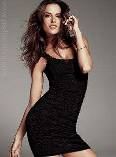 Alessandra Ambrosio, re-sculpted into an inhuman shape by photo editors for Victoria's Secret. #fake #photoshop #selfesteem #image #body #unhealthy #retouch #skinny