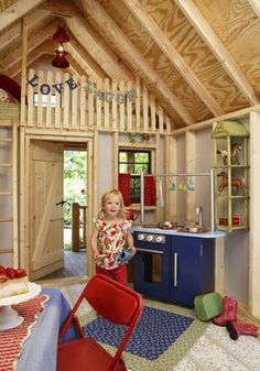 50 Kids Playhouses - loft idea»»» Same floor plan but a different theme to create a modern guest room or additional hang out space
