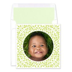 Holly Border Photo Cards - Real Simple (finestationery.com)