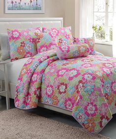 Take a look at the Cali Collection Quilt Set on #zulily today!