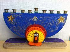 A Hanukkiah for Thanksgivingukkah!