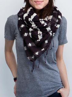 Gorgeous limited edition FashionABLE scarves to support ONE and the women in Ethiopia who make them.