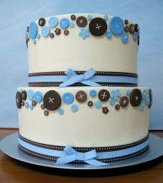 Great baby boy shower cake