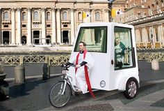 Yannick Read Designs a Pedal-Powered Popemobile for the Vatican