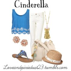 Cinderella, created by loveandpixiedust on Polyvore