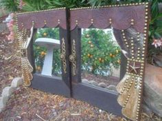RECYCLED WINDOW PANE TURNED MIRROR MAKEOVER  http://www.facebook.com/pages/Suzi-Homefaker/157277567665756