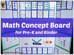 Math Concept Board for the Mobile Classroom, Prek-Kinder