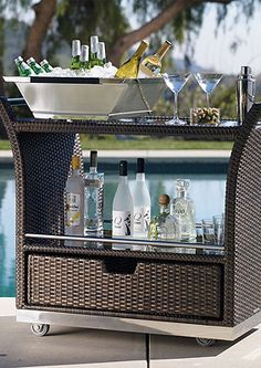 The Ultimate Outdoor Serving Cart.