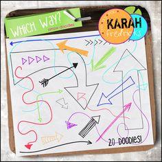 Which Way? - arrow doodles by Karah Fredricks ... Digital Scrapbooking
