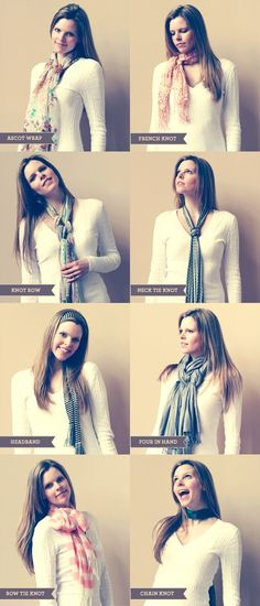 How to tie a scarf by doreen.m