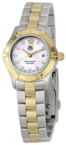 TAG Heuer Women's WAF1425.BB0825 Aquaracer 28mm Two-Tone Diamond Dial Watch by TAG Heuer @ http://bit.ly/HuTJ6X