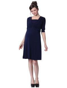Sweet Mommy Front Gathered Maternity and Nursing Dress $94.00