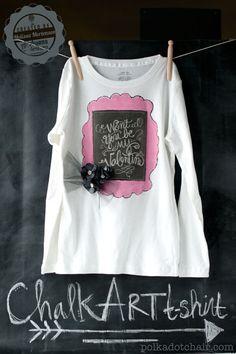 Chalk Art t-shirt Tutorial
