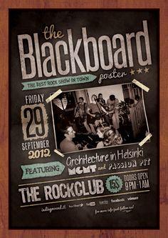 Blackboard Poster by Roberto Perrino, via Behance