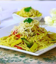 Spicy Thai Noodles via Chitra's Cuisine