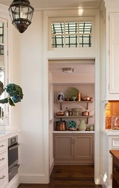 architect, cabinets, transom windows, white cabinet, pantry doors, butler pantri, butler pantry, blue kitchens, hous