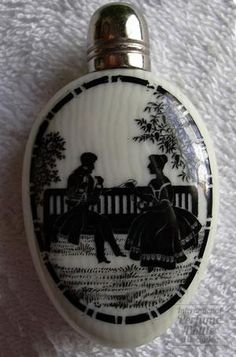 victorian  simulated ivory porcelain, sterling silver  England