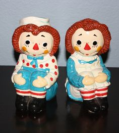 Vintage Raggedy Ann and Andy Bookends