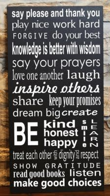 Words to live by....