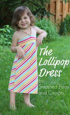 dress patterns, little girls, summer dresses, kids clothes, dress tutorials, sundress, lollipop, kids fashion, sewing tutorials