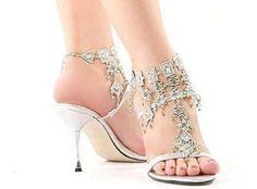Bridal Footwear Designs 2012, Custom Wedding Shoes for Brides